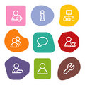Users web icons, colour spots series Royalty Free Stock Photo