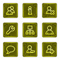 Users web icons, electronics card series Royalty Free Stock Photo