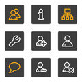 Users web icons, grey buttons series Royalty Free Stock Images