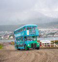 Ushuaia argentina march double decker tourist bus in usu usuaia on Royalty Free Stock Photography