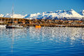Ushuaia from the Beagle Channel Royalty Free Stock Photo