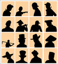 Using Hat Silhouette Royalty Free Stock Photo