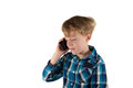 Using of smartphones from children litte boy is a smartphone Royalty Free Stock Photos