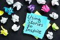 Using stories to inspire. Influence of storytelling