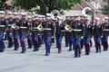 The USMC Marine Forces Reserve Band in Parade Royalty Free Stock Photo