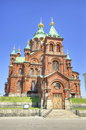 Uspenski orthodox cathedral in helsinki finland famous landmark Stock Image