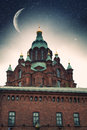 Uspensky cathedral in helsinki elements of this image furnished by nasa Stock Image
