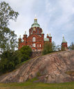 Uspensky cathedral in Helsinki, Finland. Royalty Free Stock Image