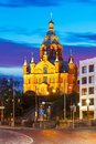 Uspensky cathedral in helsinki finland scenic evening summer view of the old town Royalty Free Stock Photo