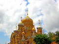 Uspensky cathedral in st petersburg russia uspenskoe courtyard optina pustyn monastery Stock Image