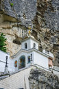 Uspensky cave monastery near bakchisarai crimea ukraine Royalty Free Stock Photos