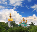 Uspensky monastery at pechersk lavra in kiev ukraine Royalty Free Stock Photography