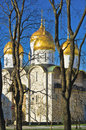 Uspensky sobor the cathedral of the dormition in moscow kremlin russia Royalty Free Stock Images