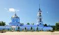 Uspensky sobor zadonsk russia panorama Royalty Free Stock Photo