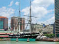 USS Constellation 1854 Royalty Free Stock Photography