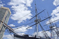 Uss constellation in baltimores inner harbor the sloop of war constitution photo made may Stock Photography