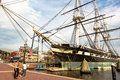 USS Constellation docked in Baltimore Royalty Free Stock Photo