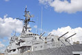 USS Laffey: Forward Turrets & Superstructure Royalty Free Stock Photo