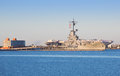 USS Lexington in Corpus Christi Royalty Free Stock Photos