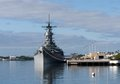 Uss missouri pearl harbor memorial with the Royalty Free Stock Photography