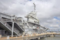 USS Yorktown CV10: Bridge & Ship Control Royalty Free Stock Photo