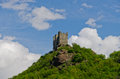 Ussel castle chatillon aosta valley panoramic view of the of châtillon Royalty Free Stock Images