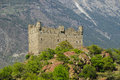 Ussel castle chatillon aosta valley panoramic view of the of châtillon Royalty Free Stock Photography