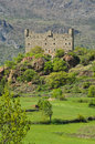 Ussel castle chatillon aosta valley panoramic view of the of châtillon Royalty Free Stock Photos