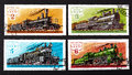 USSR - CIRCA 1979- a series of stamps printed in USSR, shows trains, CIRCA 1979