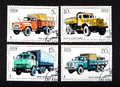 USSR - CIRCA 1986- a series of stamps printed in USSR, shows trucks, CIRCA 1986