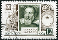 USSR - 1964: shows Galileo Galilei (1564-1642), 400th birth anniversary Royalty Free Stock Photo