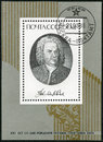 Ussr shows johann sebastian bach composer circa a stamp printed in circa Royalty Free Stock Image