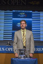 Usta chairman ceo and president dave haggerty at the us open draw ceremony flushing ny august in flushing on august Stock Photo