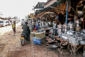 Usually life style in laos pon hong december mini mart at roadside pon hong town between and vang vieng Stock Photos