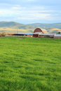 Utah dairy farm summer landscape at a in heber valley usa Royalty Free Stock Photography