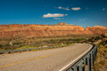 Utah highway view along through comb ridge on cedar mesa Royalty Free Stock Photo