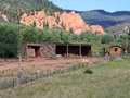 Utah mountain rustic building image of a mountains and a in Royalty Free Stock Photos