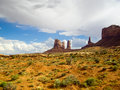 Utah rock formations of monument valley Stock Images
