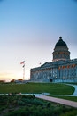 Utah state capitol building in salt lake city the evening Royalty Free Stock Images