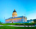 Utah state capitol building in salt lake city the night Stock Photography