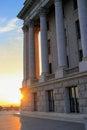 Utah State Capitol at sunset in Salt Lake City Royalty Free Stock Photo