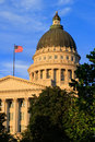 Utah State Capitol with warm evening light, Salt Lake City Royalty Free Stock Photo