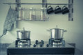 Utensil in kitchen room vintage style effect picture Royalty Free Stock Photo