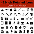 Utensils and Kitchen Smooth Icons Royalty Free Stock Photo