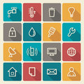 Utilities icons and engineering service of buildings Stock Photo