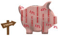 Utilities piggy bank in the form of pig Royalty Free Stock Images