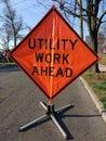 Utility Work Ahead Royalty Free Stock Photo