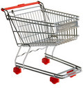 Utklippshoppingtrolley Royaltyfria Bilder