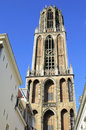 Utrecht cathedral tower Royalty Free Stock Image