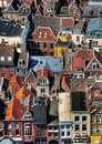 Utrecht city areal view Royalty Free Stock Photo